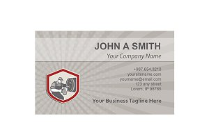 Business Card Template Barman Pourin