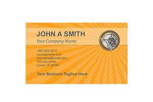 Business Card Template American Buff