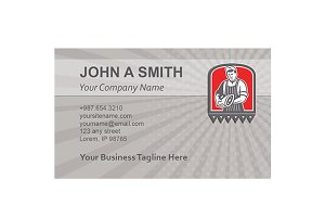 Business Card Template Butcher Leg o