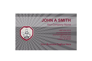 Business Card Template Butcher Meat