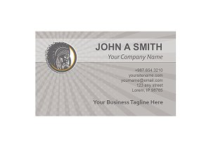 Business Card Template Native Americ