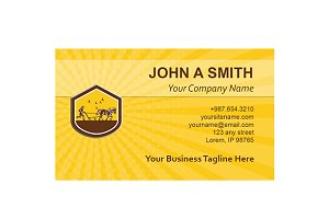 Business Card Template Organic Farme