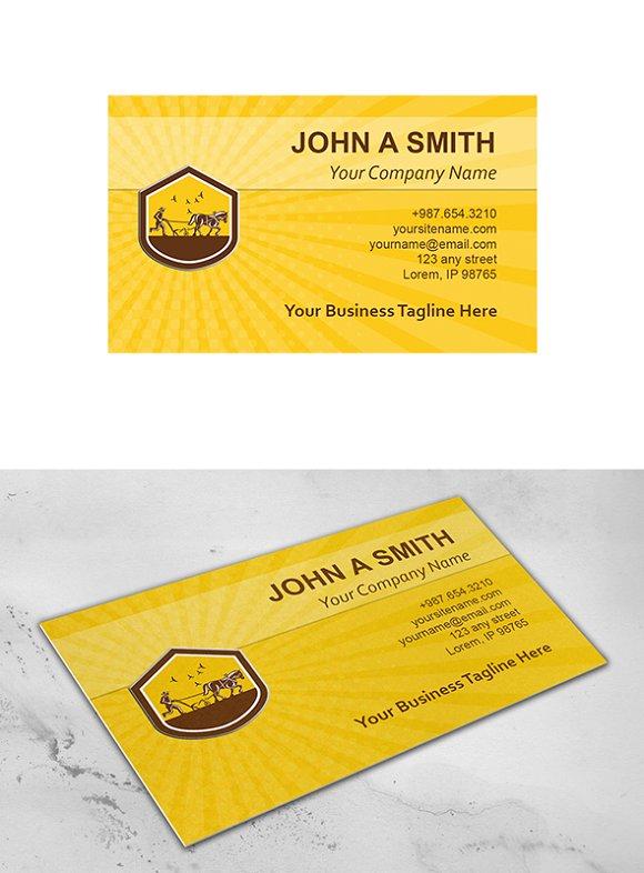 Business Card Template Organic Farme