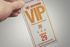 Multipurpose colored VIP PASS card