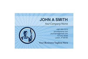 Business Card Template Artist Painte