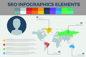 Seo Infographics Elements
