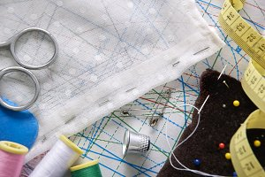 Tailoring tools on clothing pattern