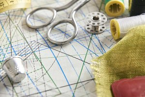 Tailoring tools close up