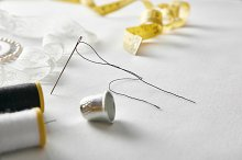 Sewing tools with lace elevated