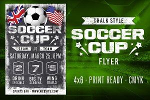Chalk Soccer Sports Flyer