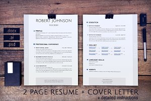 2 pages resume and cover letter USA