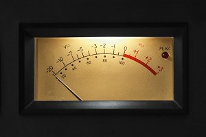 VU Meter on audio equipment