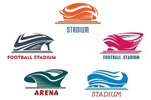 Sporting stadiums or arenas icons