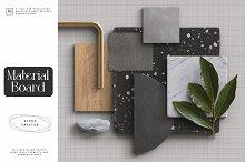 Material Board Scene Creator by  in Mockups