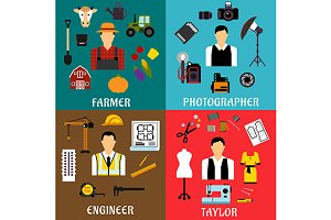 Farmer engineer tailor photographer