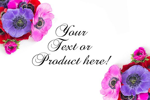 floral styled stock image