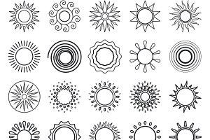 Sun line symbols