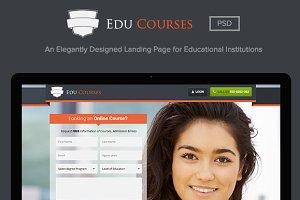 Edu Courses - Landing Page PSD
