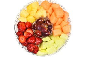 Tub of Cut Fresh Fruit