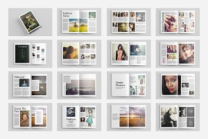 Fashion Magazine Template-V434
