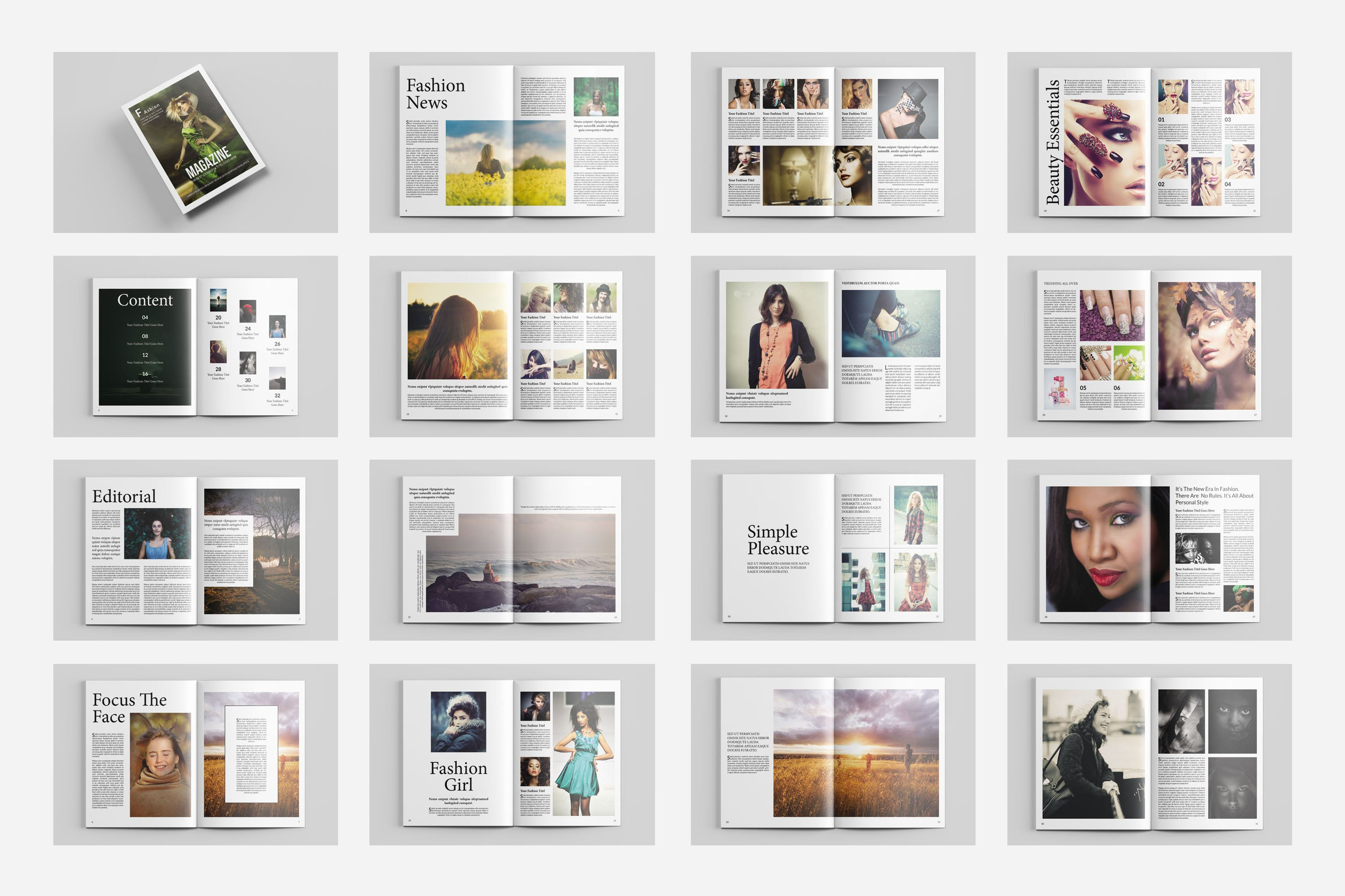 Fashion magazine template v434 magazine templates creative market - Picture design samples ...