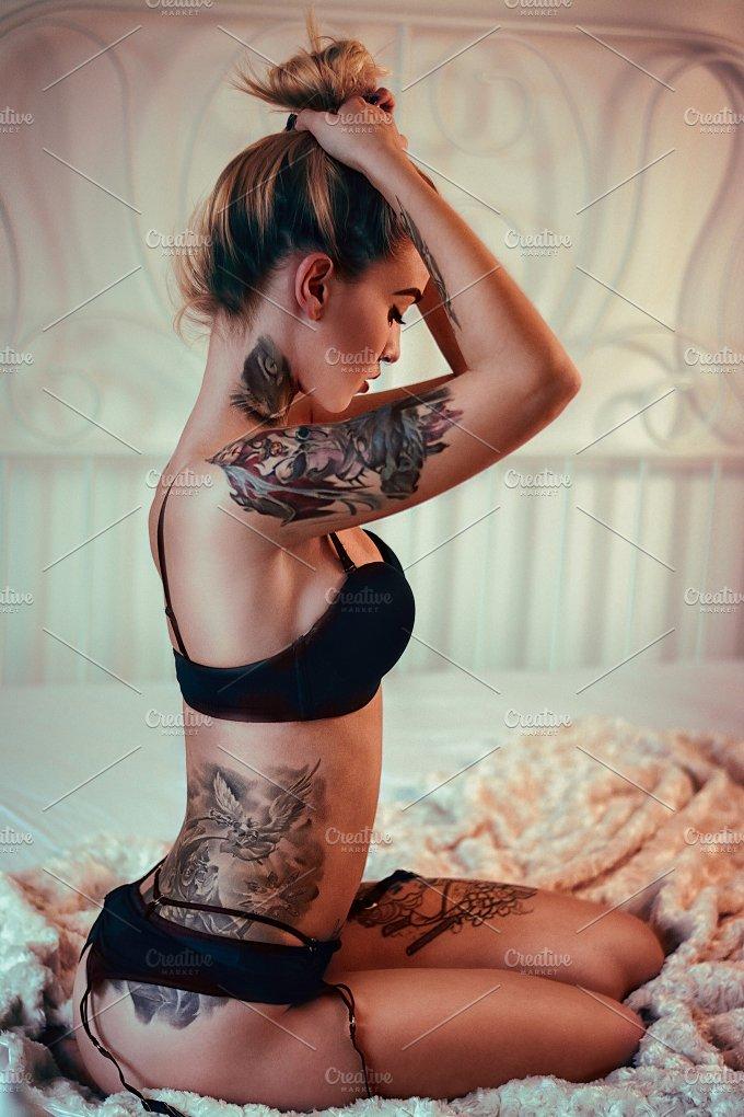 Tattoo beauty fashion photos on creative market for Tattoo shops in katy