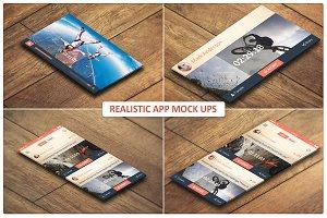 Realistic App Mock ups
