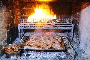 Prawns grilled.