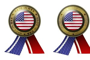 Set of 2 USA Seals
