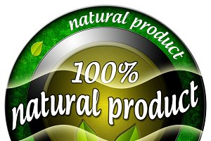 100% Natural Product Icon