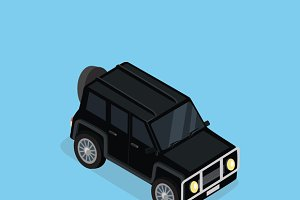 Isometric Safari off Road Car