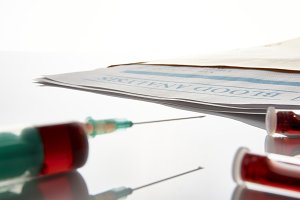 Syringe and vials envelope front