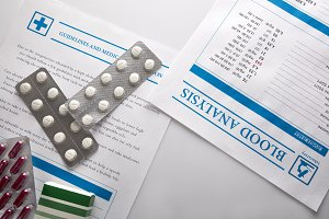 blood analisys, medical prescription