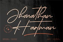 Jhonathan Hartman Signature Font by  in Fonts