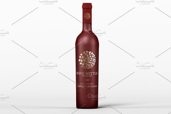 Download Wine Bottle Mock-Up (Black Mat)