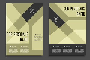 Geometric brochure design. Vol.1