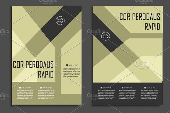 Geometric brochure design. Vol.1 - Magazines