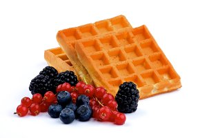 Belgian Waffle and Berries