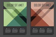 Geometric brochure design. Vol.2