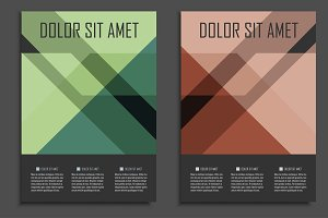 Geometric brochure design. Vol.2