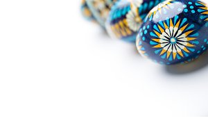 colorful handmade easter eggs