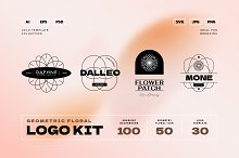 Geometry Floral Logo Kit by  in Templates