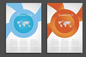Geometric brochure design. Vol.3