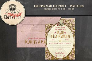 Mad Tea Party Invitation - Pink