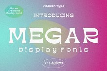 Megar + Bonus - Display Fonts by  in Fonts