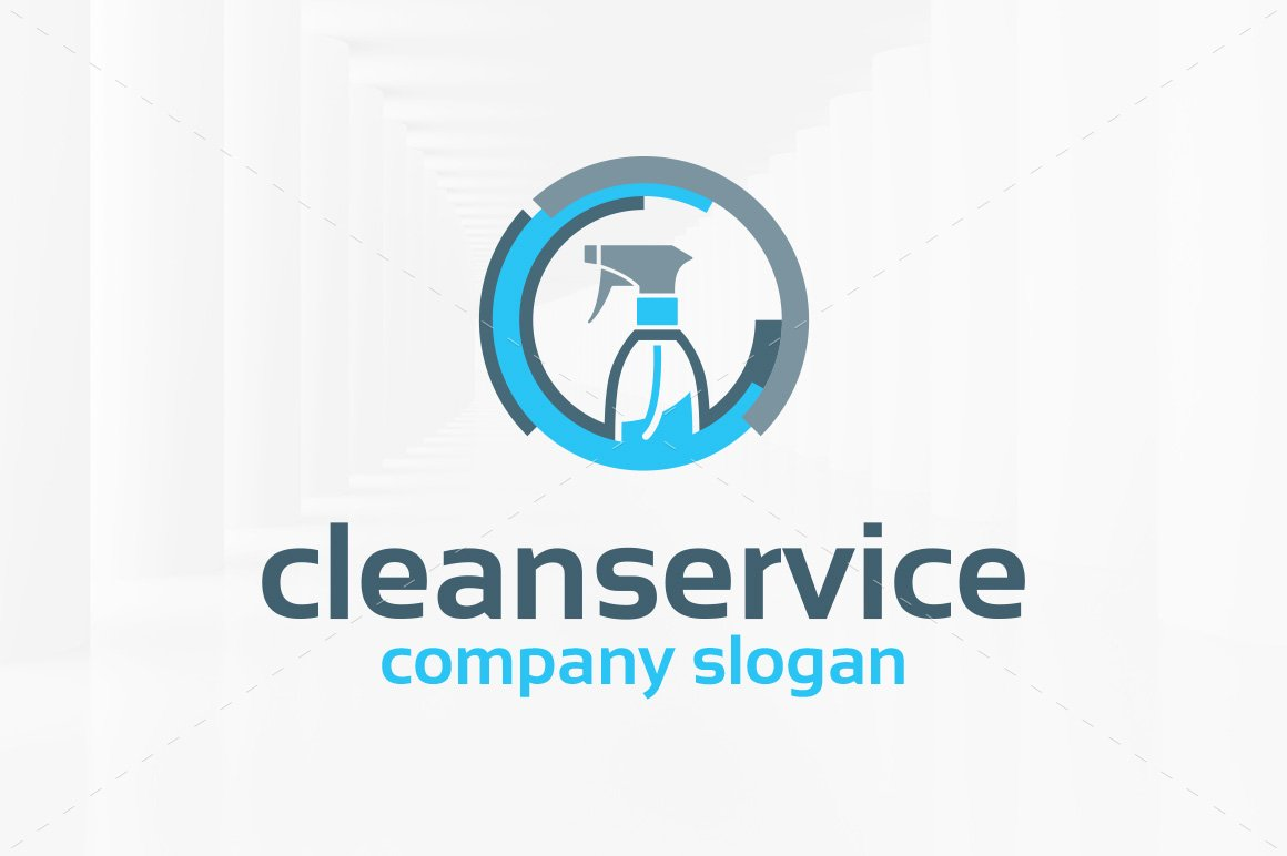 Clean service logo template logo templates creative market for Household design company