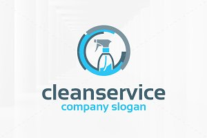 Clean Service Logo Template