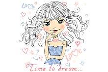 Beautiful girl dreams