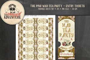 Mad Tea Party Tickets - Pink