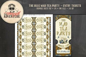 Mad Tea Party Tickets - Blue